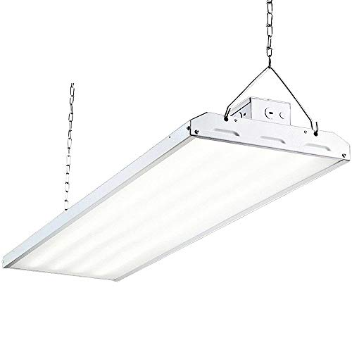 Hykolity LED High Bay Shop Light, 4FT 223W Linear LED Industrial Workshop Light, Warehouse Aisle Area Light 29500lm, 5000K Daylight, 4 Lamp Fluorescent Equivalent, 1-10V Dim, UL, DLC Complied, 1 Pack (Warehouse Lighting)