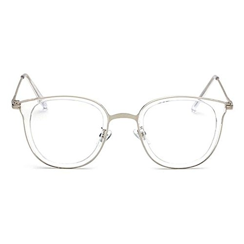 Uv400 Moda fatica Bianca Occhiali Metallo Uomini Trasparente Vintage Bicchieri Donne Telaio Per Anti Lente Hzjundasi E 6vfymb7gIY