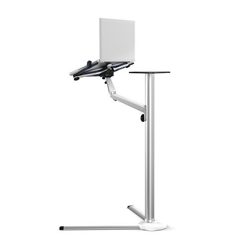 UPERGO Floor Stand for Cell Phones, Tablets, Laptops, and E-Readers, Height Adjustable, 360 Degree Rotating(UP-8), Silver