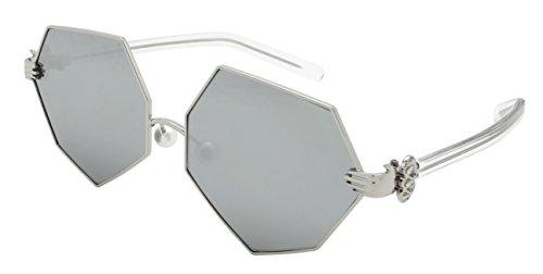 Edge I-Wear Vintage Style Angular Sunnies with Flat Lens - Sunglasses Angular