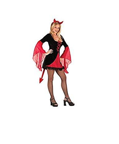 GGTBOUTIQUE Damen A-Linie Kleid schwarz schwarz/red