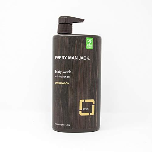 Every Man Jack Body Wash, Sandalwood 33.8-ounce