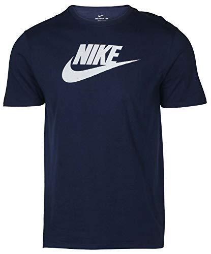 cfe2aed5a8509 Nike Mens Futura Icon Cotton T-Shirt Blue White 943065 419 (L)