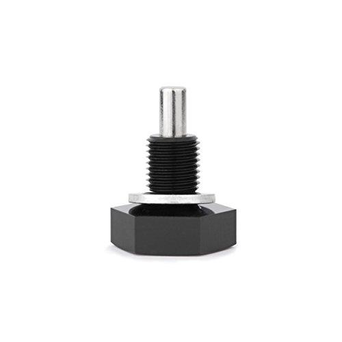 Mishimoto MMODP-12125B Magnetic Oil Drain Plug M12 x 1.25, Black
