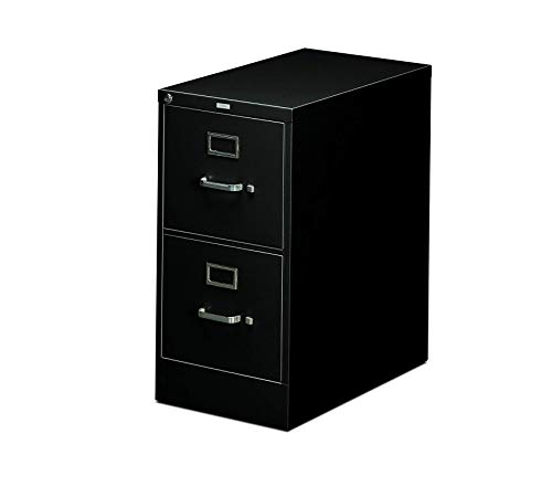 Wood & Style Office Home Furniture Premium Two-Drawer Filing Cabinet- 510 Series Full Suspension Letter File Cabinet, 29 by 15-inch, Black