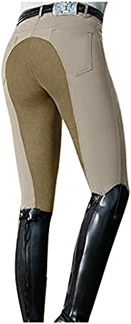 SOOTOP Women's Riding Tights High Waist Equestrian Breeches Horse Pants Ventilated Active Schooling Ti