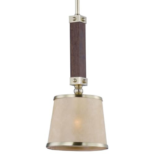 (Maxim 20529AFAPSBR, Maritime Incandescent Mini Pendant, 1 Light, 60 Watts, Antique Pecan and Satin B)