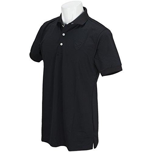 吸収するアンソロジー発火するセント?アンドリュース St ANDREWS 半袖シャツ?ポロシャツ 鹿の子半袖ポロシャツ ブラック 010 3L