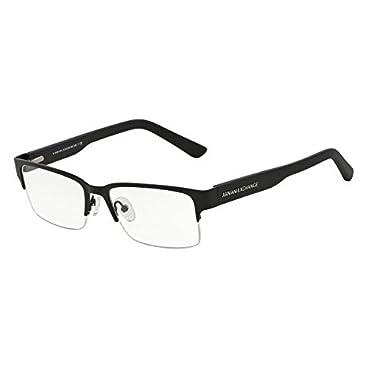f9091b19bde3 Armani Exchange AX1014 Eyeglass Frames 6063-53 - Satin Black Matte Black  AX1014-