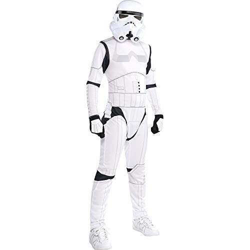 Costumes USA Star Wars Stormtrooper Costume for Boys, Size Medium, Includes a Black and White Jumpsuit and a Mask ()