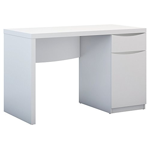 Computer Desk with Closed Storage Cabinet