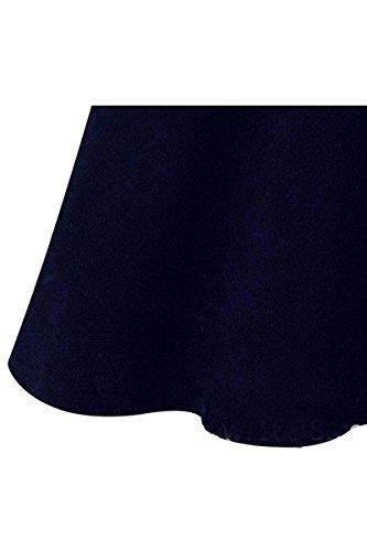 Robe - TOOGOO(R)Robe de col de Peter Pan manches longues Pull tricote slim pour femmes bleu S