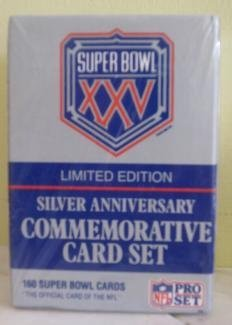 (Pro Set Super Bowl XXV Limited Edition Silver Anniversary Commemorative NFL Football Card Set)