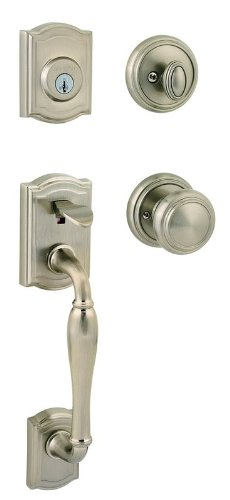 Baldwin 180WYHXATK RDB 15 SMT CP Exterior Single Cylinder Entrance Handleset Finish: Satin Nickel Cp Smt Handleset