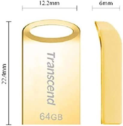 Transcend Jetflash Usb Stick Silver 64gb Computers Accessories