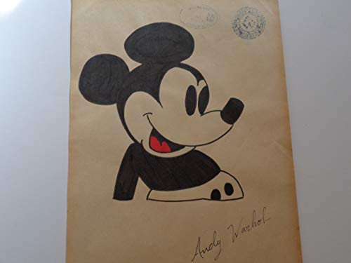 Andy Warhol Mickey Mouse - Andy Warhol Signed, Mickey Mouse Watercolor Fine Art Painting