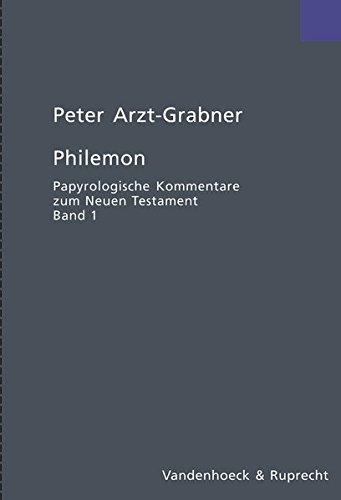 Philemon (Papyrologische Kommentare zum Neuen Testament)