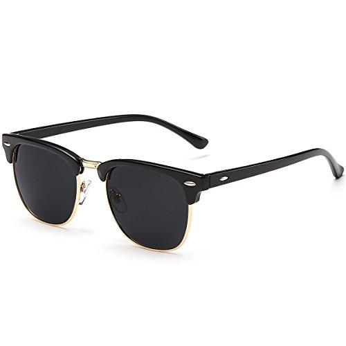3030 Clubmaster Sol Black de Bright UV400 FEIDU Polarizadas Gafas Para y FD Hombre Mujer An5PwOqtw