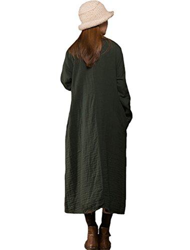 MatchLife - Vestido - para mujer Blackish Green