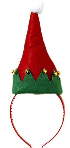 Jingle Bell Elf Hat Headband