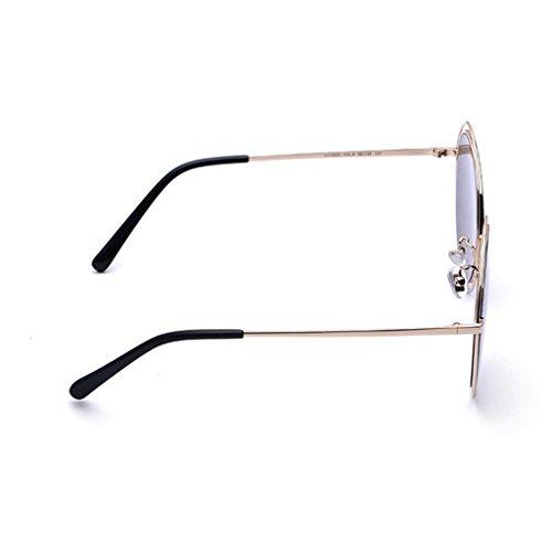 de Protección Excursionista gafas Personalidad polarizadas protección Opcional de La al Mujer Vintage libre Regalo colore de Nueva UV de 3 UV400 Gafas Hombre de aire sol Estrella Gafas Plata sol conducción sol Z5xr4x