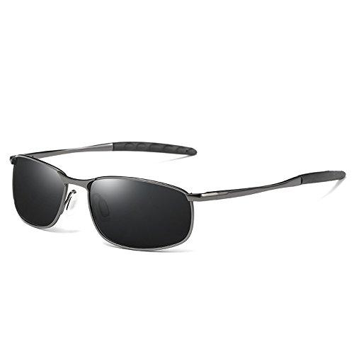 polarizadas moda gafas TIANLIANG04 estilo Gun Black gafas de de gafas Negro sol sol conducción de hombres anti Plata UV400 de gafas polarizadas deslumbramiento CppxXqzrw