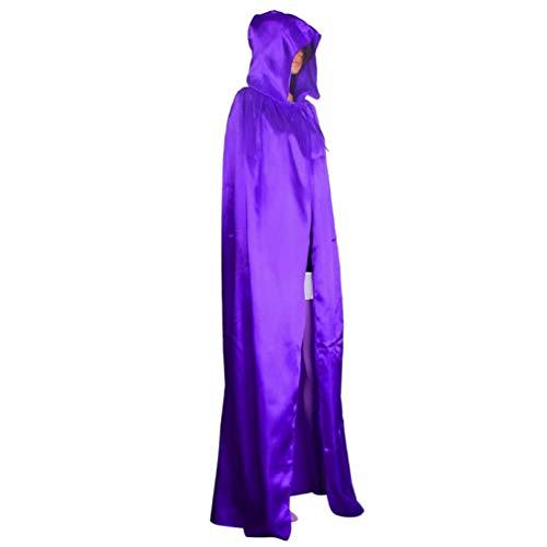 de DEELIN Capuchon de Wicca Robe Manteau de Couleur Unie Violet Manteau SnO1n8