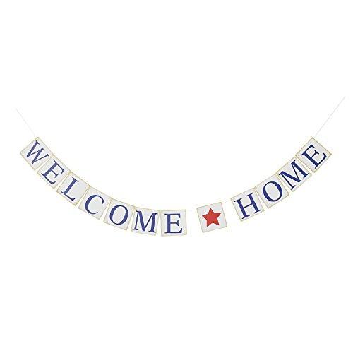 Welcome Home - Cartel para el hogar con texto en inglés'Welcome Home', diseño patriótico militar