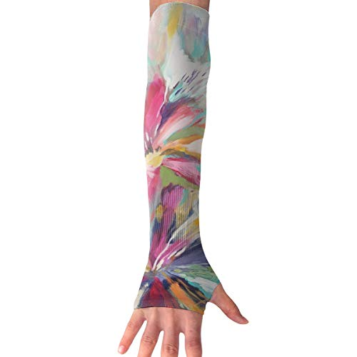 Red-Christ Paint The Flower Arm Sleeves UV Cooling Sleeves Arm Cover Sun-Protection Men Women Youth