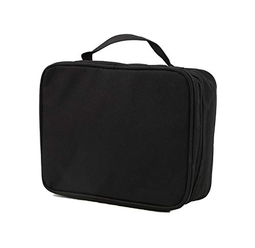 purifyou Classic Insulated Lunch Box - Compact, Easy Wash, Smooth Zipper & Lightweight - Tote Bag & Container, Lunch Bag for Men, Women, Kids, Boys, Girls, Adults (Gentlemen or Boys, Black) - Classic Black Box
