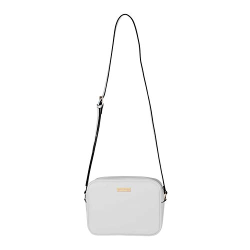 SEPT MIRACLE Womens Girls Medium Crossbody Bag Lightweight Classic Modern Shoulder PU Leather Bag Pure White