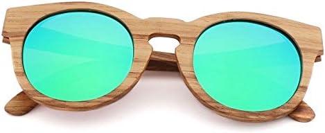 TEYUN Bamboo Occhiali da Sole polarizzati Zebra Legno Occhiali Handmade Vintage Telaio in Legno di Guida Occhiali da Sole Freddi Polarizzazione 6