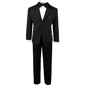 Black n Bianco Boy's Modern Tuxedo Dresswear Set