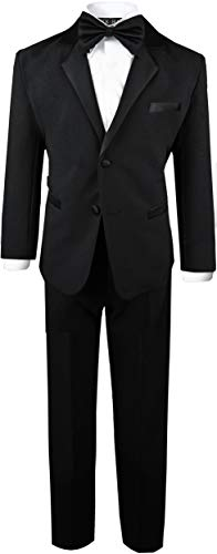 Boys Tuxedo in Black Dresswear Set Size