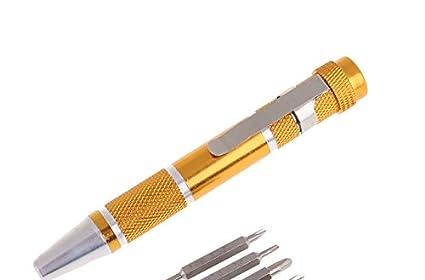 Kit 9 en 1 destornillador bolígrafo punta precisión reparación reloj ...
