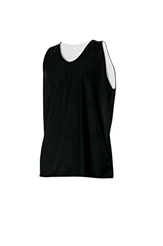 - Women's Reversible Athletic Mesh Team Scrimmage Practice Jerseys for Basketball, Soccer, or Lacrosse (Black/White, Medium)