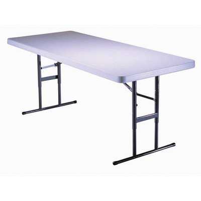 6 ft. Adjustable Folding Table in Almond & Bronze (4 Tables)