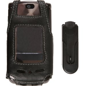 V9m Clip (Wireless Solutions New Swivel Clip Leather Case For Motorola RAZR2 V9 V9M)