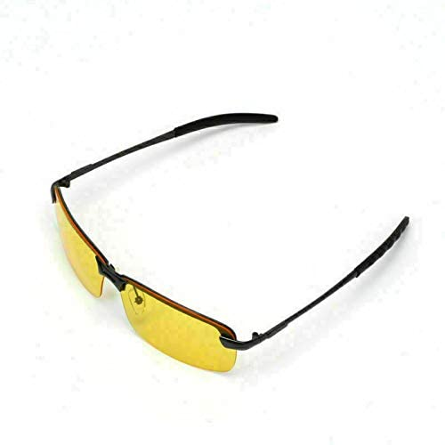 Night Vision Lens Fit for Driving Cycling Risk Reducing Anti-Glare UV400 Protection Polarized Motorcycle Clear Vision Glasses RR Driving Glasses for Men Women Safety Day Night Driving Glasses