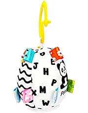 Wallfire Baby Hanging Toy Black and White Geometric Shape Toy Bed Bed Car Seat Travel Stroller Toy