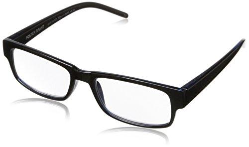 Foster Grant Men's Sloan 1014166-150.FGU Square,Reading Glasses,Blue,1.5