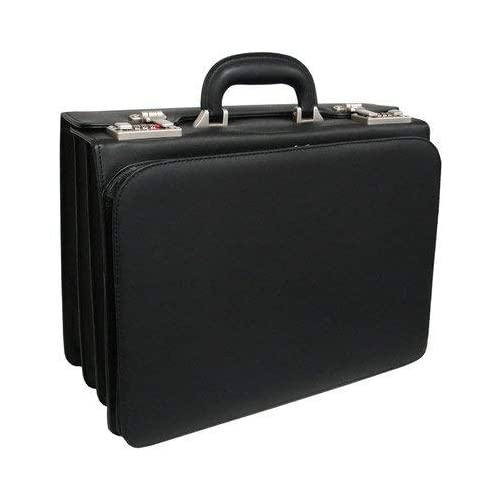Image of Luggage AmeriLeather APC Attache Leather Executive Briefcase (Black)