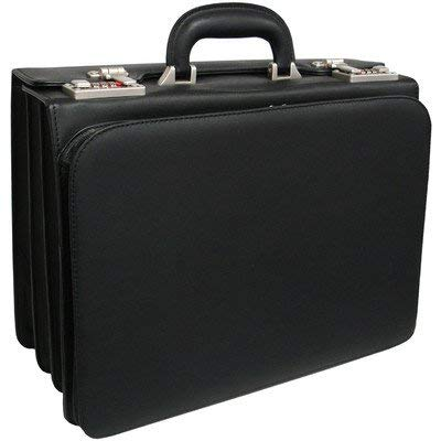 AmeriLeather APC Attache Leather Executive Briefcase (Black)