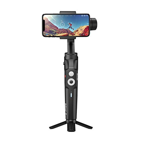 MOZA Mini S Essential Fold-able Smartphone Gimbal with Quick Platback,One-Button Zoon,Timelapse,Objecti Tracking,Inception Mode Fucntion for Smartphone