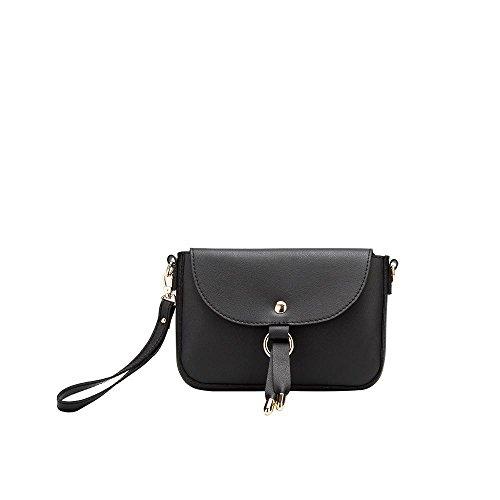 - Melie Bianco Lia Small Women's Handbag Crossbody Shoulder Bag Wristlet - Black