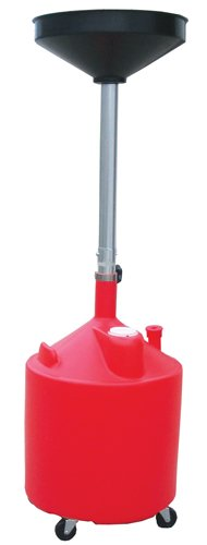 ATD Tools 5188 Plastic Waste Oil Drain with Casters - 18 Gallon (Plastic Drain Waste Oil)