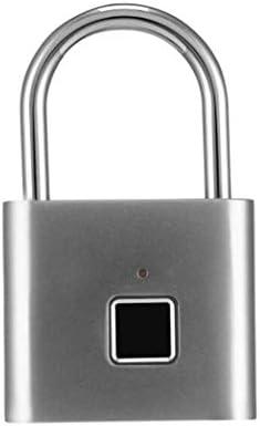GXWLWXMS 電子ロック、インテリジェント指紋南京錠USB付き自動指紋電子ドアロック、ハウスジムボックスロッカーバックパックに適した防水盗難防止キーレス南京錠
