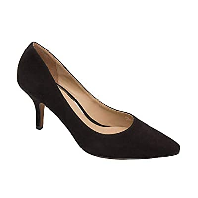 Linea Paolo - Peggy - Mid Height Stiletto Heel Pump with Squared Off Pointy Toe (New Fall)