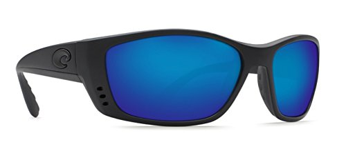 Costa Del Mar Permit Sunglasses, Blackout, Blue Mirror 580Plastic - Del Permit Costa Mar