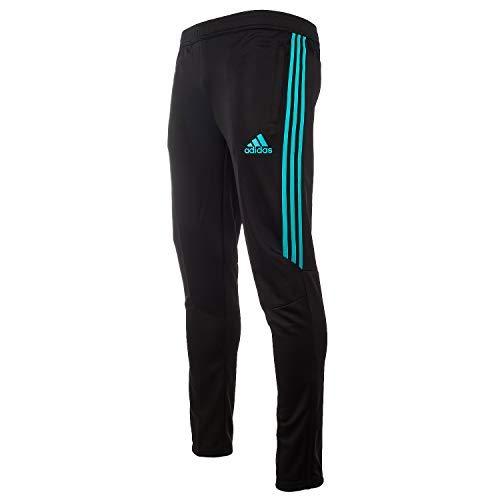 adidas Soccer Tiro 17 Training Pant, Black/Hi-Res Aqua, Large